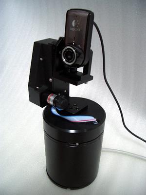 2軸制御 精密電動雲台製作例